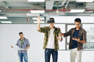 Testing virtual reality application